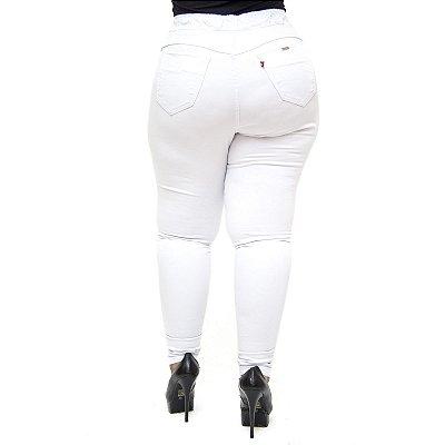 Calça Legging Feminina Cambos Plus Size Skinny Ingrite Branca