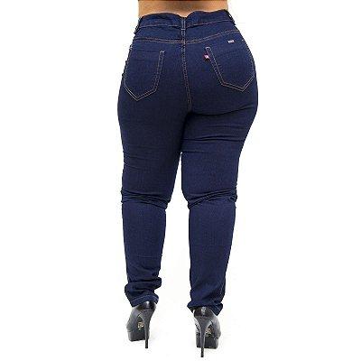 Calça Jeans Feminina Cambos Plus Size Skinny Sonarai Azul