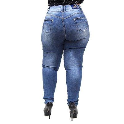 Calça Jeans Feminina Latitude Plus Size Lemiris Azul
