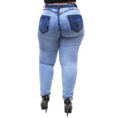 Calça Jeans Feminina Latitude Plus Size Nataniely Azul