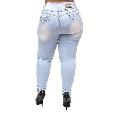 Calça Jeans Feminina Thomix Plus Size Tayara Azul