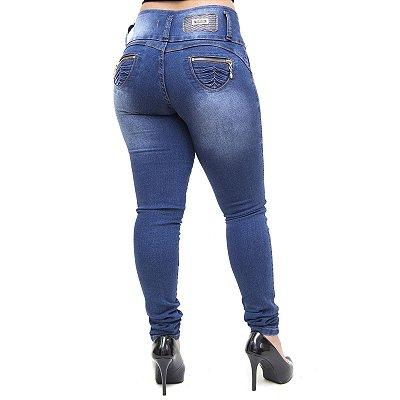 Calça Jeans Feminina Thomix Skinny Leyane Azul