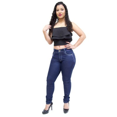 Calça Jeans Feminina Helix Skinny Karry Azul