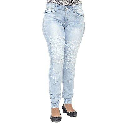 Calça Jeans Feminina Clara Mini Blue Rasgada