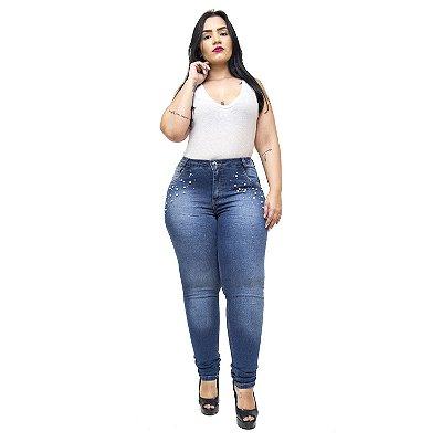 Calça Jeans Credencial Plus Size Skinny Sumara Azul