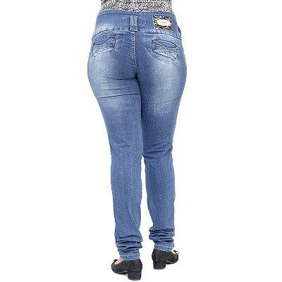 Calça Jeans Feminina Deerf Modelo Legging com Elastano