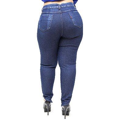 Calça Jeans Feminina Cambos Plus Size Skinny Lahryssa Azul