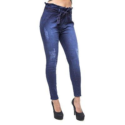 Calça Jeans Feminina Meitrix Skinny Analigia Azul