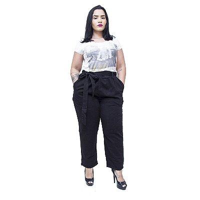 Calça Feminina Cambos Plus Size Clochard Karoll Preta