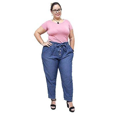 Calça Feminina Cambos Plus Size Cloachard Claudelaine Azul