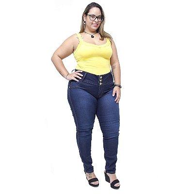 Calça Jeans Feminina Credencial Plus Size Skinny Silvaine Azul