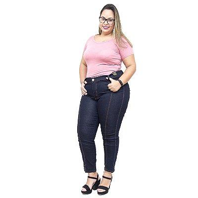 Calça Jeans Feminina Credencial Plus Size Cigarrete Marianice Azul