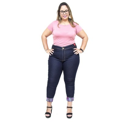 Calça Jeans Feminina Credencial Plus Size Skinny Anniele Azul