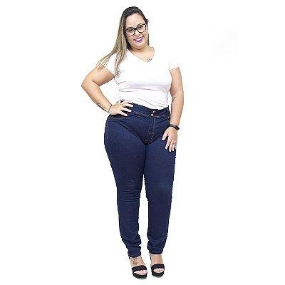 Calça Jeans Feminina Cambos Plus Size Skinny Waldicea Azul