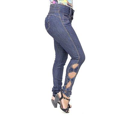 Calça Jeans Legging Feminina Meitrix com Elástico na Cintura