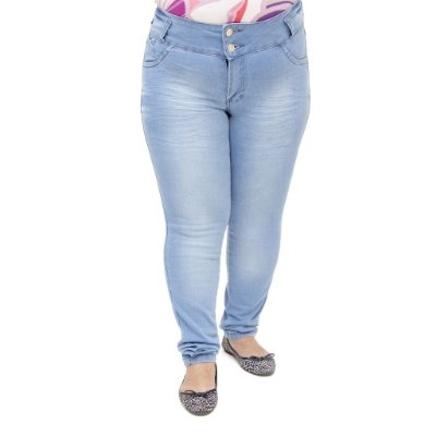 Calça Jeans Legging Feminina Hevox Clara Plus Size Levanta Bumbum