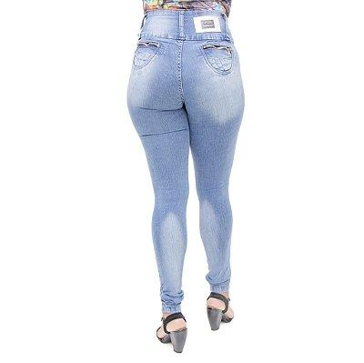Calça Jeans Legging Feminina S Planeta Cintura Alta Levanta Bumbum