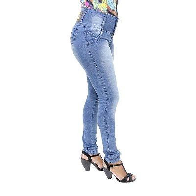 Calça Jeans Legging Feminina S Planeta Azul Levanta Bumbum
