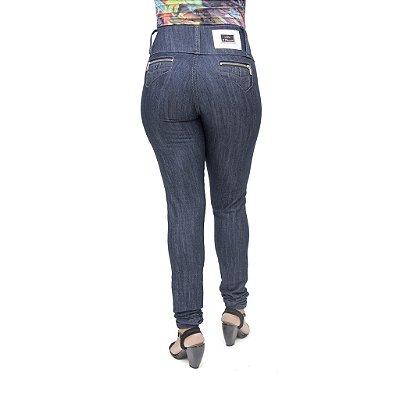 Calça Jeans Feminina S Planeta Escura com Cintura Média