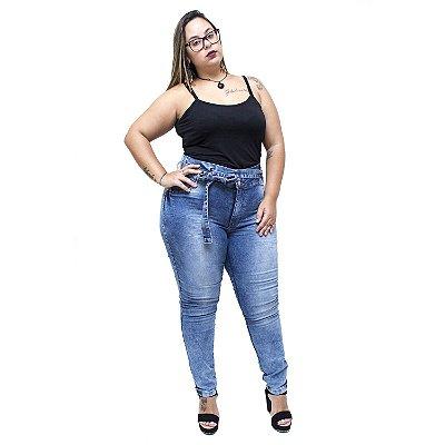 Calça Jeans Credencial Plus Size Clochard Thiessa Azul