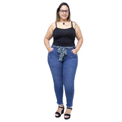 Calça Jeans Cambos Plus Size Skinny Isailma Azul