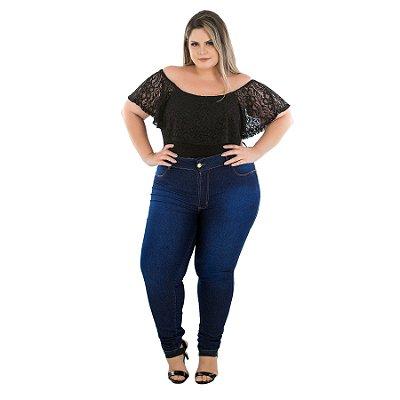 Calça Jeans Latitude Plus Size Skinny Francelia Azul