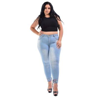 Calça Jeans Latitude Plus Size Skinny Ederlania Azul