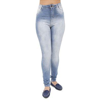 Calça Jeans Feminina S Planeta Hot Pant com Cintura Alta Levanta Bumbum