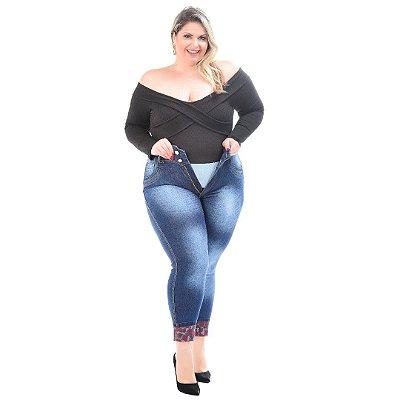 Calça Jeans Latitude Plus Size Skinny Rossany Azul