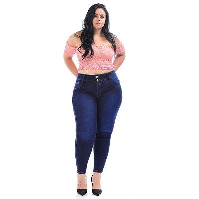 Calça Jeans Latitude Plus Size Skinny Nicollie Azul