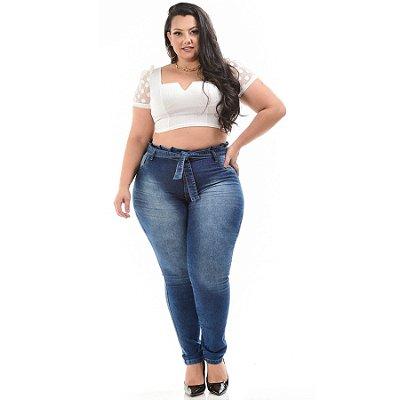 Calça Jeans Helix Plus Size Clochard Analice Azul
