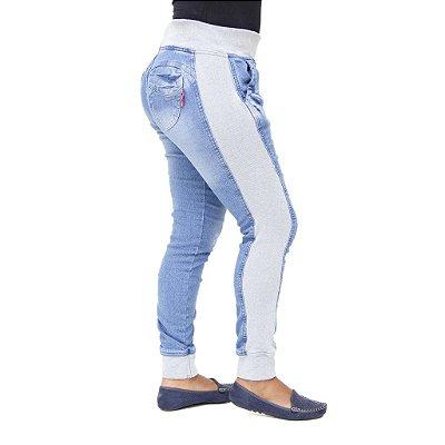 Calça Jeans Moletom Feminina com Elastano Meitrix