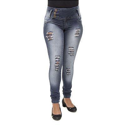 Calça Jeans Feminina Legging  Thomix Rasgada Levanta Bumbum