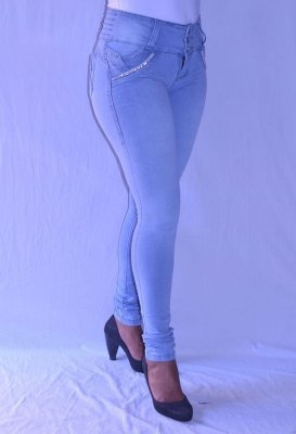 Calça Jeans Legging Meitrix Levanta Bumbum com Strass