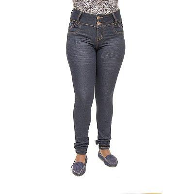 Calça Jeans Feminina Credencial Escura Cintura Alta