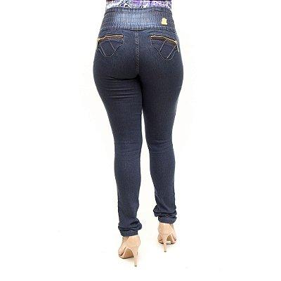 Calça Jeans Feminina Legging Helix com Elástico Levanta Bumbum