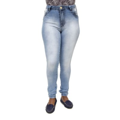 Calça Jeans Feminina S Planeta Hot Pants Manchada