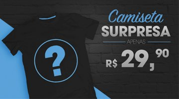 Camiseta surpresa mini banner
