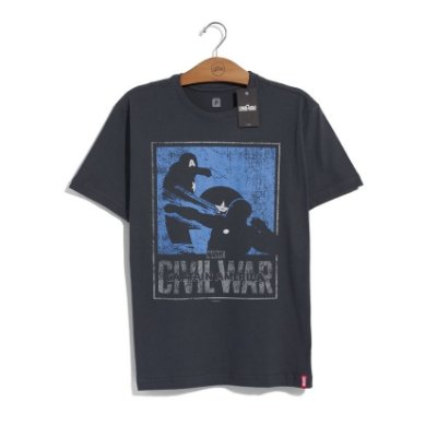 Camiseta Marvel Guerra Civil Versus