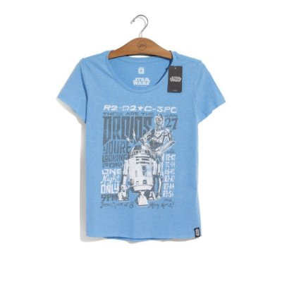 Camiseta Star Wars Tour Droids Feminina