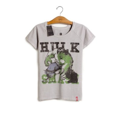 Camiseta Feminina Marvel Hulk - Era de Prata
