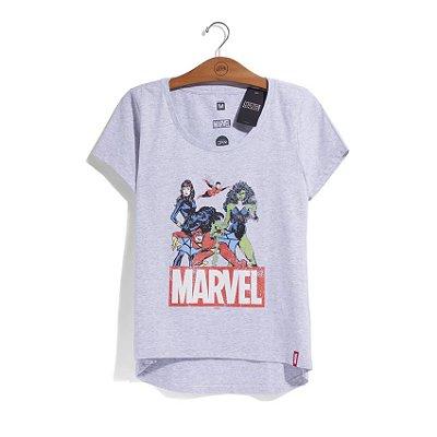 Camiseta Feminina Marvel Heroínas