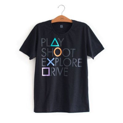 Camiseta Playstation Botões