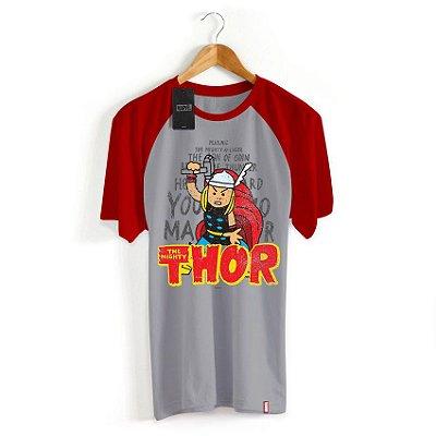 Camiseta Infantil Marvel Thor Cartoon