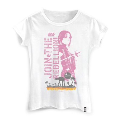 Camiseta Feminina Star Wars Jyn Rebellion