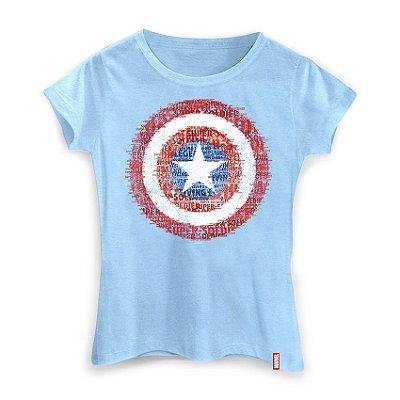 Camiseta Marvel Escudo Super Soldado Feminina