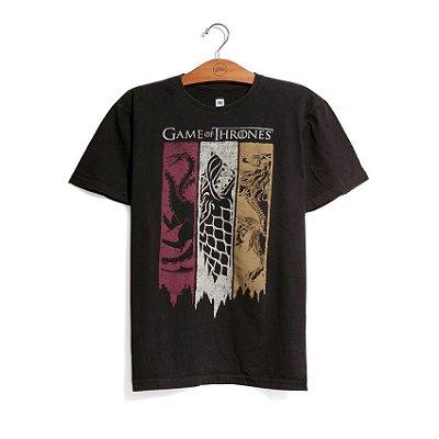 Camiseta Game of Thrones Bandeiras