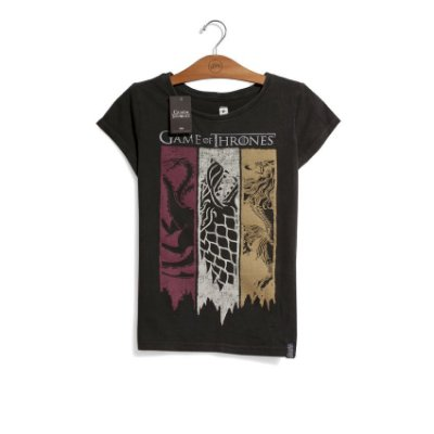 Camiseta Game of Thrones Bandeiras Feminina