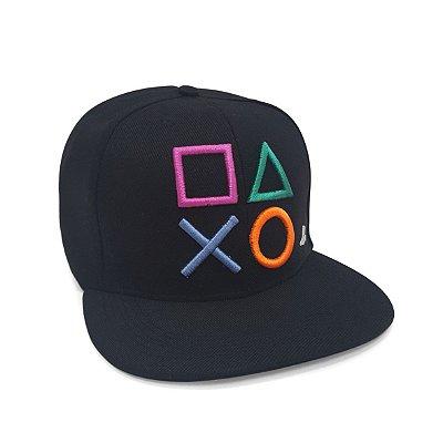 Boné Playstation Botões