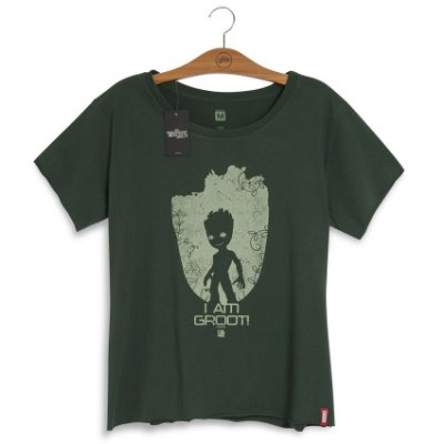 Camiseta Marvel Baby Groot Volume 2 Feminina
